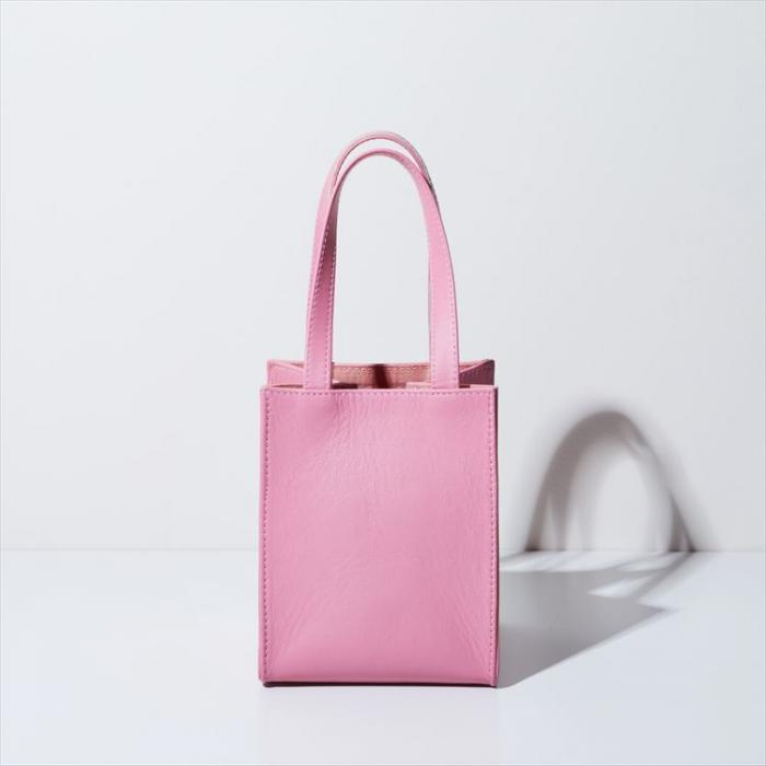 BOX BAG square < sheepskin Pink >
