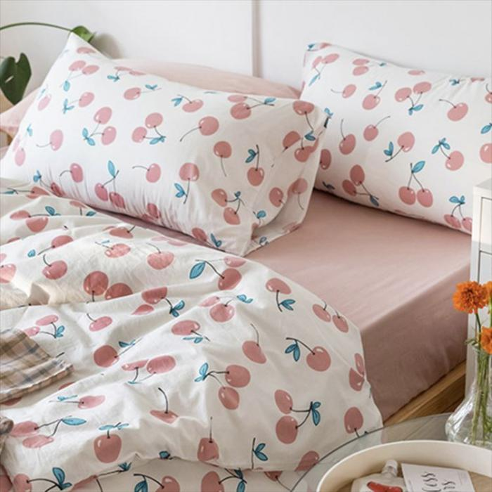 pink cherry bedlinen set