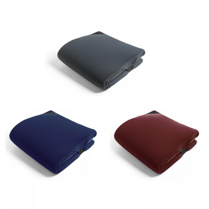 OMNI PILLOW GREY / NAVY / WINE RED